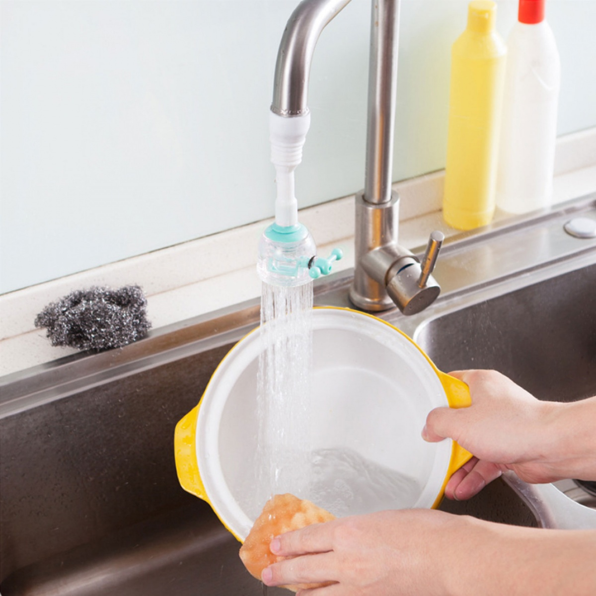 Kitchen Faucet Extender  - Blue