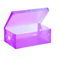 Transparent Shoe Box 33 x 20.5 x 12.5 cm - Purple