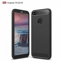 FOR SKU Huawei Y9 2018 Fashion Fiber Phone Case - Black