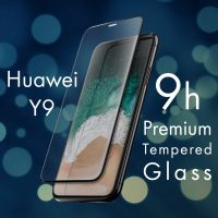 FOR SKU  Huawei Y9 Full Screen Tempered Glass With Black Lining