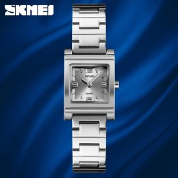 Skmei 1388 Luxury Quartz Women's Watch - Silver