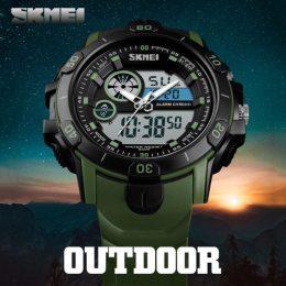 Skmei 1428 Dual Display Sports Watch - Green