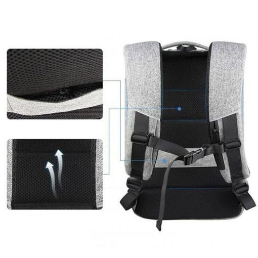 DTBG 8272 Travel Laptop Bag  With USB Port- Grey