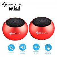 Zilla Mini Wireless Bluetooth Speaker with Multiple Speaker Wireless Pairing Function Double - Red