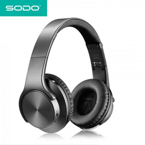 SODO MH5 2 in 1 Bluetooth Headphone - Black