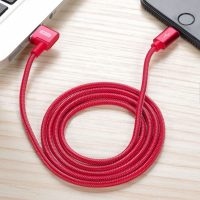 XO NB31 Lightning USB Elbow Alloy 2.4A Cable - Red