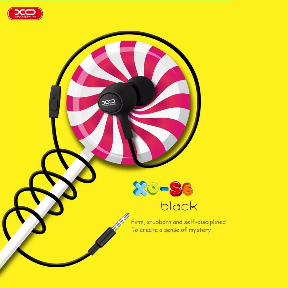 XO S6 Candy Earphone Series Handsfree In Ear Earphone - Black