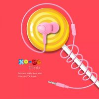 XO S6 Candy Earphone Series Handsfree In Ear Earphone - Pink