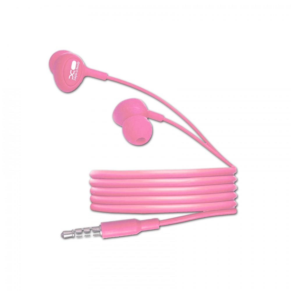 XO S6 Candy Earphone Series Handsfree In Ear Earphone - Pink