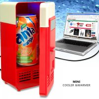 USB Powered Mini Cooler and Warmer For Office Car Home - Red