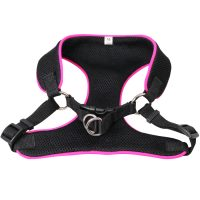 Breathable Soft Air Mesh Pet Dog  Cat Vest Harness  Medium - Black
