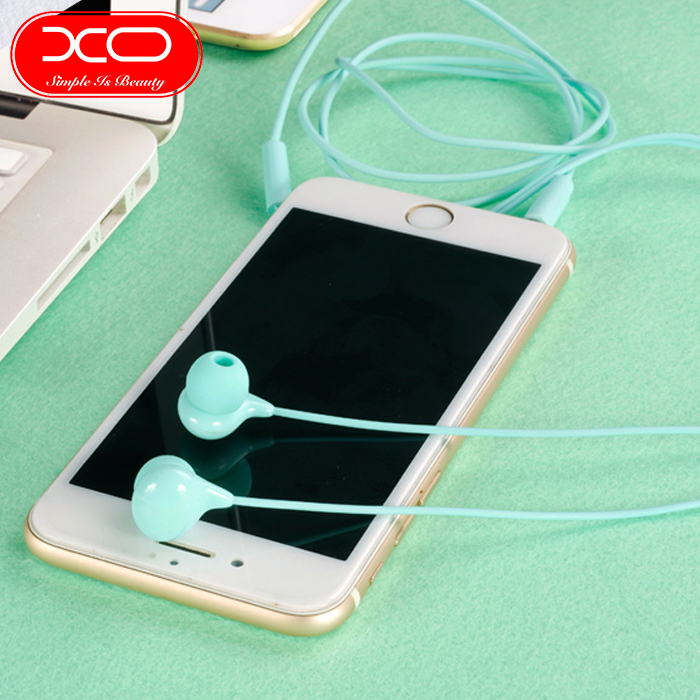 XO S12 Bean Earphone High Fidelity Sounds With In-line Controls And Microphone - White