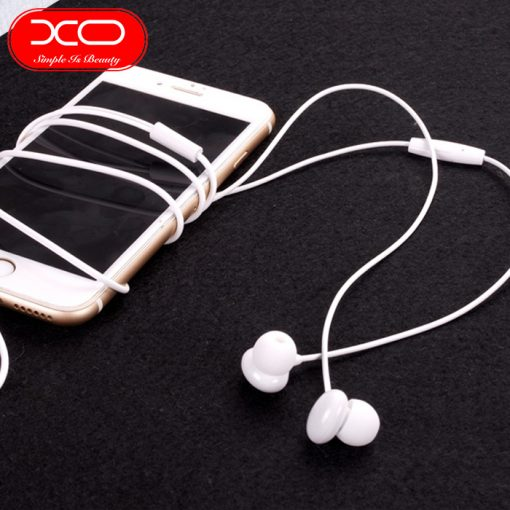 XO S12 Bean Earphone High Fidelity Sounds With In-line Controls And Microphone - Pink