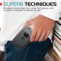 Huawei Mate 20 Fashion Fiber Phone Case - Grey