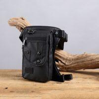 Tactical Men Oxford Waterproof Leg Bag - Black