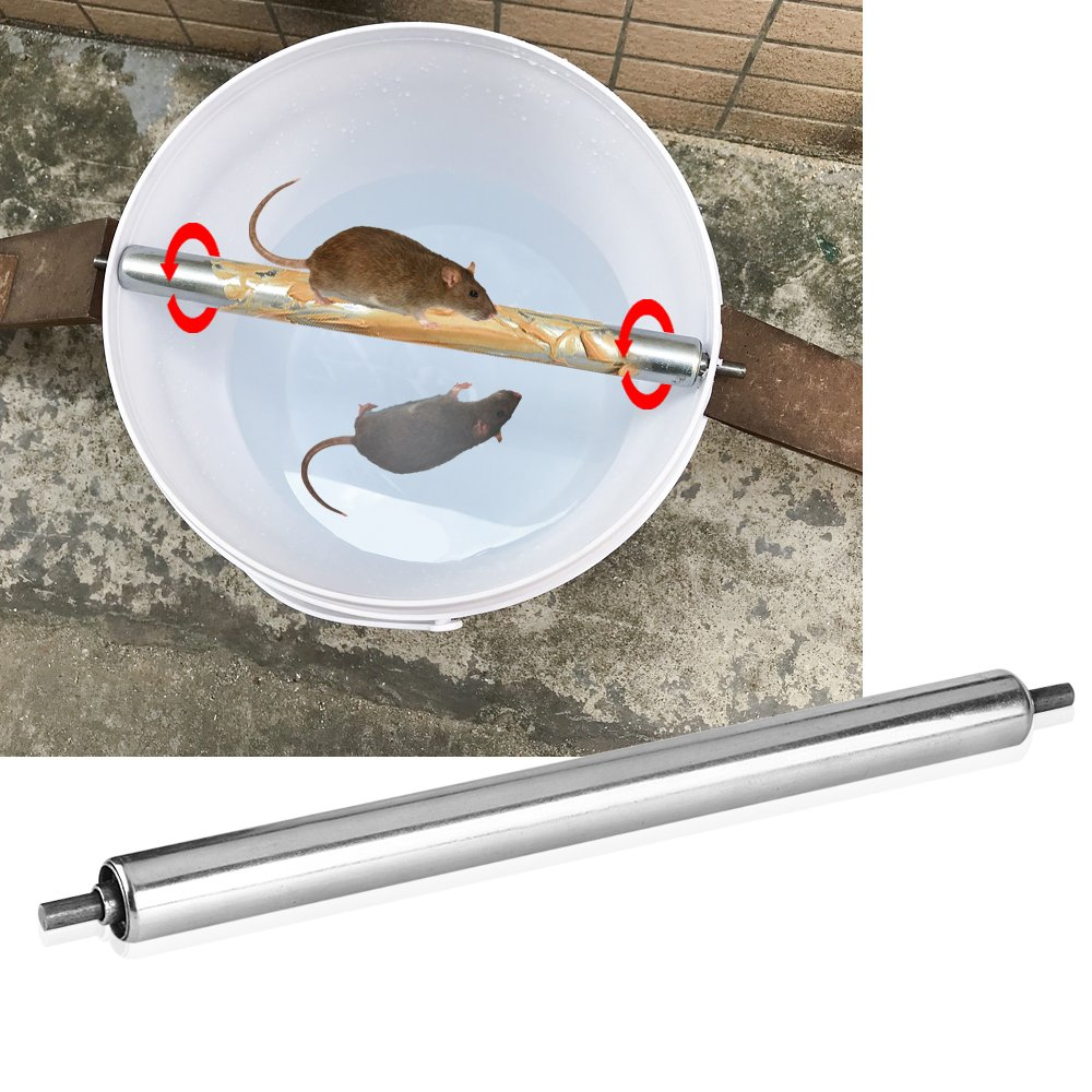 Rolling Log Mouse Trap - Silver