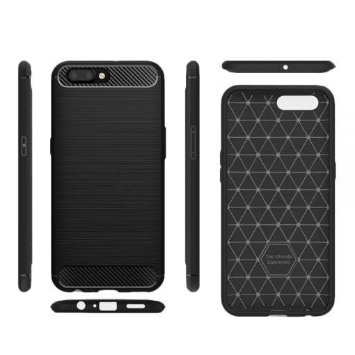 Oppo A3s Fashion Fiber Phone Case - Black