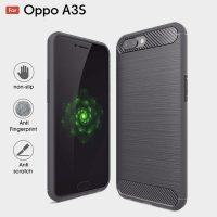 Oppo A3s Fashion Fiber Phone Case - Grey