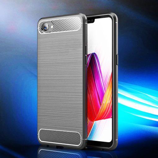 Oppo F9 Fashion Fiber Phone Case - Grey