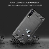 Samsung A7 Fashion Fiber Phone Case - Grey