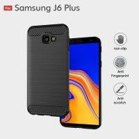 Samsung J6 Plus Fashion Fiber Phone Case - Black
