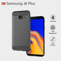 Samsung J6 Plus Fashion Fiber Phone Case - Grey