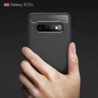 Samsung S10 Plus Fashion Fiber Phone Case - Black