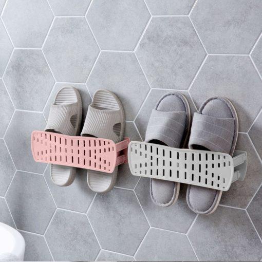 Wall Mounted Shoe Rack - Grey