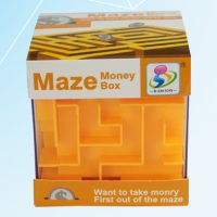 Maze Money Box - Orange