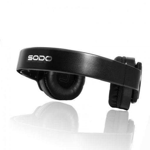 Sodo MH2 2 in 1 Bluetooth Heaphone Twist Out Speaker - Black