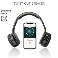 Sodo MH2 2 in 1 Bluetooth Heaphone Twist Out Speaker - Black