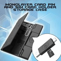 Sim And SD Card Organizer With OTG - Black