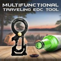 Multifunctional Traveling EDC Tool - Black