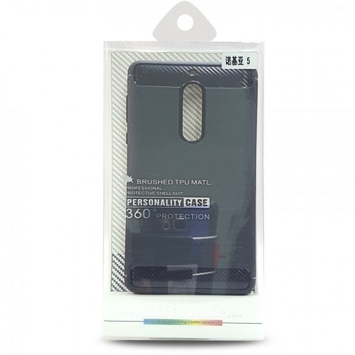 Rugged Armor Brushed TPU Case For Nokia 5 - Black