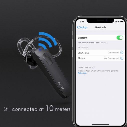 Onda B1S Bluetooth Headset - Black