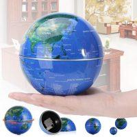 Self Rotating 6 Inches Globe - Blue