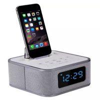 S1 Pro Alarm Clock Radio With Bluetooth Speaker and Lightning Interface - White