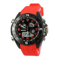 Shhors SH-0112 Men Dual Mode Sport Watch - Red