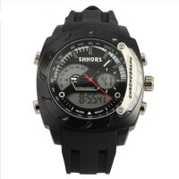 Shhors SH-0231A Men Dual Mode Digital And Analog Watch - Black