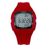 Shhors SH-0270 Sport Watch With Pedometer - Red