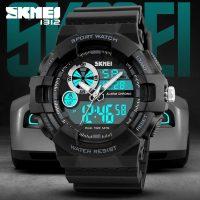 Skmei 1312 Water Resist Dual Mode Sport Watch - Black