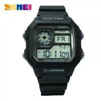 SKMEI 1299 Digital Sports Watch 5 ATM Water Proof-  Black
