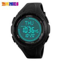 SKMEI 1232 30M Waterproof Digital Watch With Compass - Black