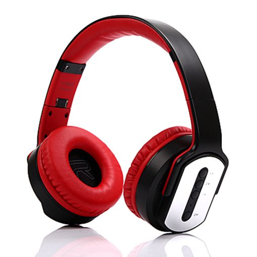 Sodo MH2 Bluetooth 2 IN 1 Headphone with Flip-out Speaker - Red