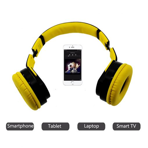 Sodo MH2 Bluetooth 2 IN 1 Headphone with Flip-out Speaker - Yellow