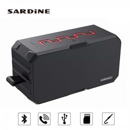 Sardine F5 Portable Wireless Bluetooth Speaker - Red