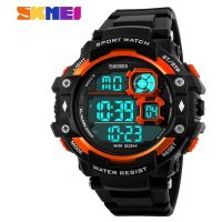 SKMEI 50M Water Resistant Sport Digital Watch - Orange
