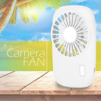 Handheld USB  Rechargeable Fan - White