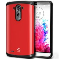 Slim Armor Case Back Cover for LG G3 - Red