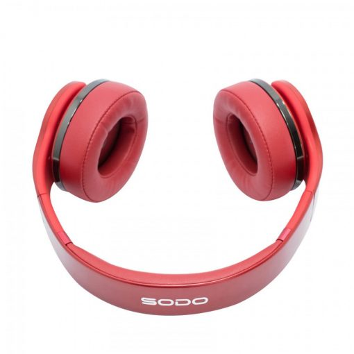 SODO MH5 2 in 1 Twist-Out Speaker Bluetooth Headphone - Red